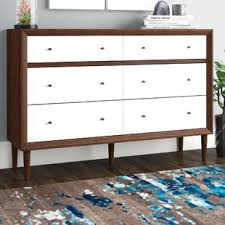 Midcentury modern dressers Tall Sunset Drawer Double Dresser Wayfair Midcentury Modern Dressers Youll Love Wayfair