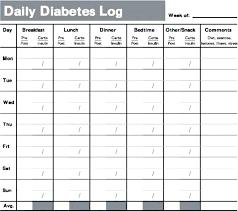 Blood Sugar Log Book Template Excel Insulin Printable