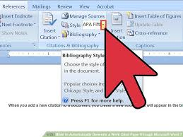 Apa Setup In Word How To Automatically Generate A Work Cited Page Through Microsoft Word 7