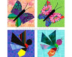 Butterfly & Firefly quilt block patterns paper pieced quilt & Butterfly & Firefly quilt block patterns, paper pieced quilt patterns,  instant download PDF, butterfly quilt patterns firefly quilt patterns Adamdwight.com