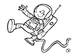 Kleurplaat Astronaut