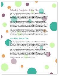 Worddraw Com Polka Dot Flyer Template For Microsoft Word
