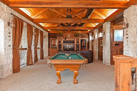 Wooden Games Room I LOVE this Look Game Room Carpeted Vaulted Wood Ceiling 6