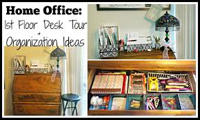home office floor desk tour organization ideas you