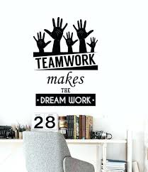 custom wall decals plus excellent wall stickers office space inspirational words team work motivational es decor vinyl wall decal custom made