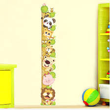 Us 4 84 15 Off Kids Child Height Chart Measure Wall Stickers Animals Climb Tree Vinyl Wallpaper House Decorative Decals Removable In Wall Stickers