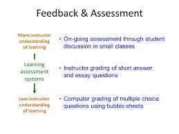 course design for university classes ppt video online feedback assessment more instructor understanding of learning on going assessment through student discussion