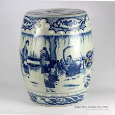 chinese blue white hand painted garden