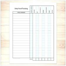 Food Journal Template Printable Workout For Myself To Track Log Free ...