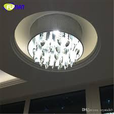 fumat smoke grey crystal chandelier modern suspension light for living room bed room gray shade light led k9 crystal chandeliers clear glass pendant