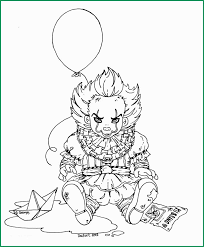 Pennywise The Clown Coloring Pages Good Baby Pennywise Lineart By