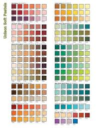 Unison Soft Pastels Color Chart Richeson Art