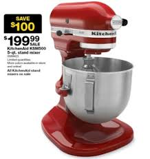 option is the kitchenaid ksm500 5 qt stand mixer there are limited quantities in and the advertised savings off the regular is 100