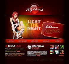 Music Website Templates Stunning Website Template 48 Night Club Music Custom Website Template