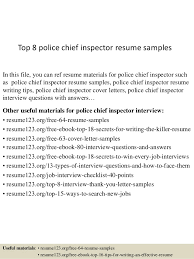 Top 8 Police Chief Inspector Resume Samples