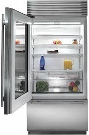 sub zero glass door fridge sub zero interior view clear glass door refrigerator residential