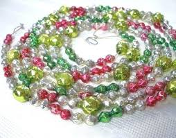glass bead garland large bethany lowe vintage