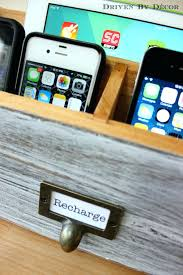 diy charging station driven by decor recharge label on electronics decorative box diy charging station