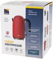 <b>Чайник электрический TESLER</b> KT-1755 RED купить в интернет ...