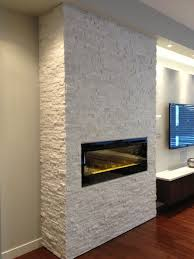 polar white real stacked stone and dimplex electric fireplace