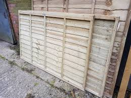 2 x brand new wooden garden lap fence panel overlap fencing panel 6ft x 4ft