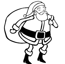 Santa Christmas Easy Coloring Pages Printable | Christmas Coloring ...