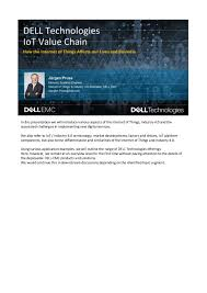 Dell Technologies The Iot Value Chain Solutions For The