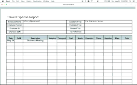 Expense Report Template Excel Free Travel Expense Report Template Excel Business Trip Expenses