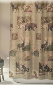 smlf design home mountain lodge woodland fabric shower curtain bear moose home decor and more mountain lodge