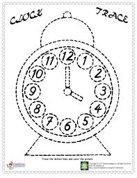 clock trace line worksheet