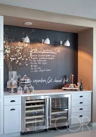 Chalkboard Paint Wall Kitchen Bar ~ this really makes me want to paint one  of my