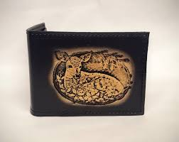 deer fawn embossed bifold leather wallet is 100 leather wallet