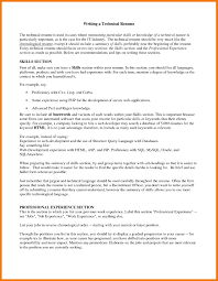 First Person Resume Examples Best Of 8 Technical Skills Resume
