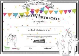 Community Service Award Template Volunteer Certificate Template