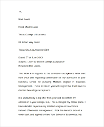 8 Sample College Acceptance Letters Pdf Word