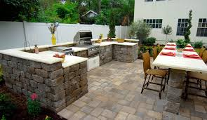 Indoor Outdoor Kitchen Tumbled Keystone Stonegate Wall Block Outdoor Kitchen Shell With