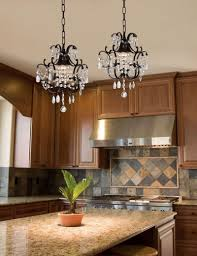 image of small wrought iron crystal chandelier