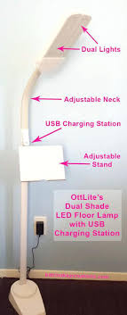 ottlite lamp the dual shade led floor lamp with charging station ottlite desk lamp reviews