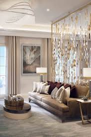 Decorations:Fascinating Neutral Home Interior With Unique Crystal  Chandelier And Beads Room Divider Fascinating Neutral