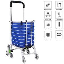 Portable Light Carts E Four Shopping Cart Portable Utility Carts Folding Trolley
