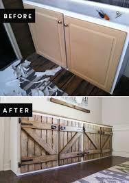 Reclaimed Kitchen Cabinet Doors Barn Door Style Kitchen Cabinets