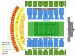 Stadium Seating Chart Seating Chart M M Roberts Stadium Hattiesburg Mississippi
