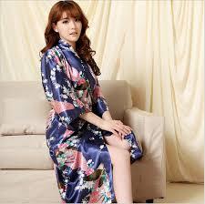 plus size silk robe brand long robe emulation silk soft home bathrobe plus size