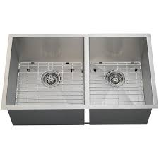 16 Gauge 32 Double Bowl Stainless Steel Undermount Kitchen Sink Set