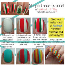 Nail art for short nails #5 - Striped nails