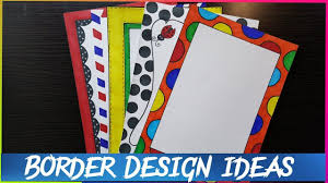 Assignment Front Page Border Designs How To Make Easy Page Border Designs For Assignment