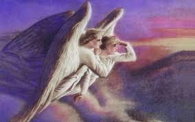 Картинки по запросу два ангела белых в небе