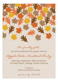 Fall Invitations Party Beautiful Autumn Leaves Fall Party