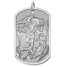 saint michael dog tag religious medal