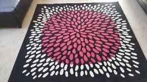 ikea tredklover 639 7 square area rug carpet black pink
